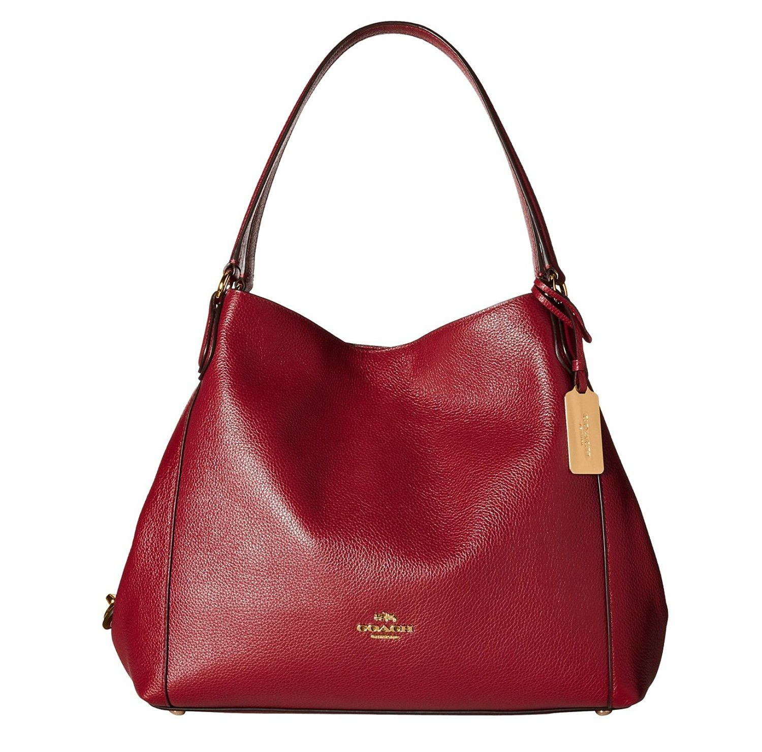 ... COACH EDIE SHOULDER BAG 31 IN REFINED PEBBLE LEATHER (Black Cherry)  Handbags ... 75da0619e2951