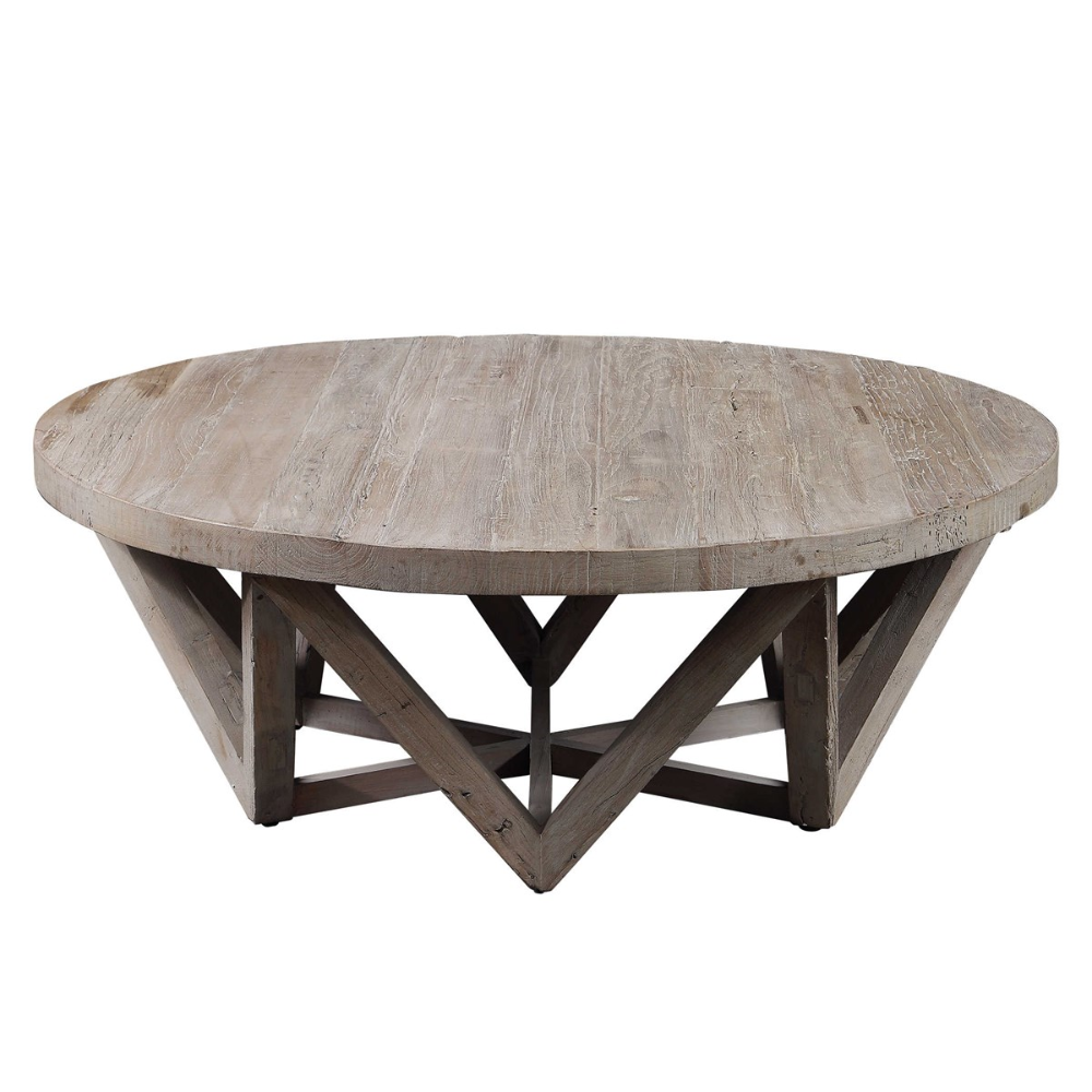 Uttermost Kendry Reclaimed Wood Coffee Table Round Wood Coffee