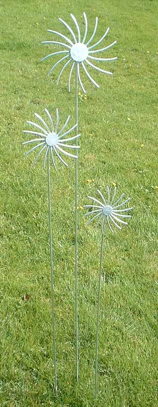 Sculptures based on clematis seed heads www.ironvein.co.uk