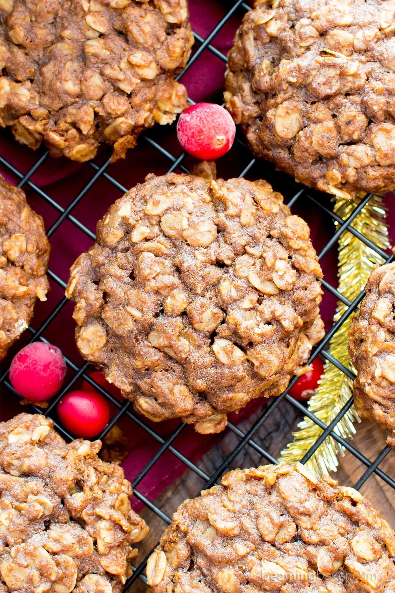 Gluten free gingerbread oatmeal breakfast cookies v gf