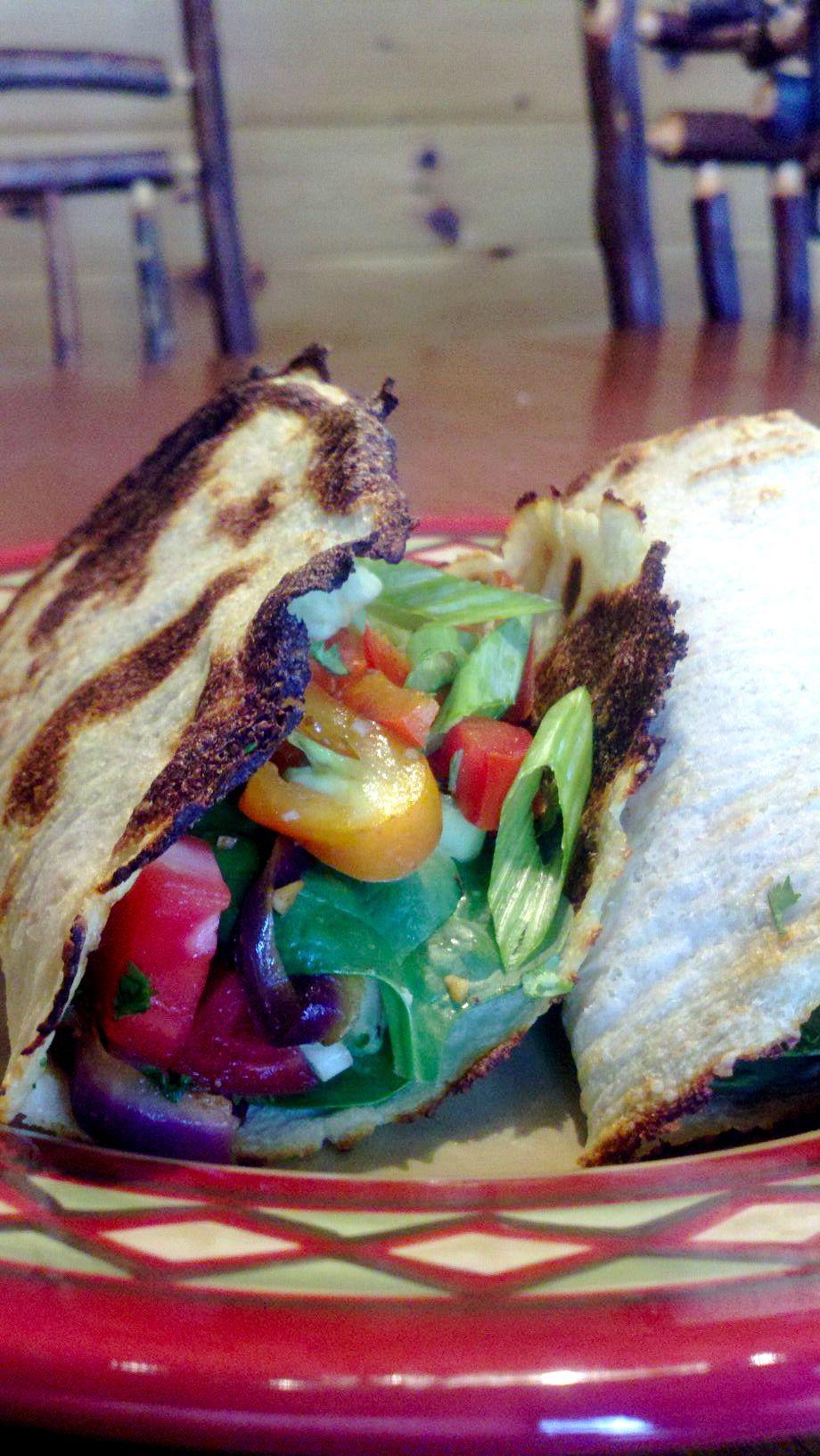 Cauliflower tortilla tacos - all veggies