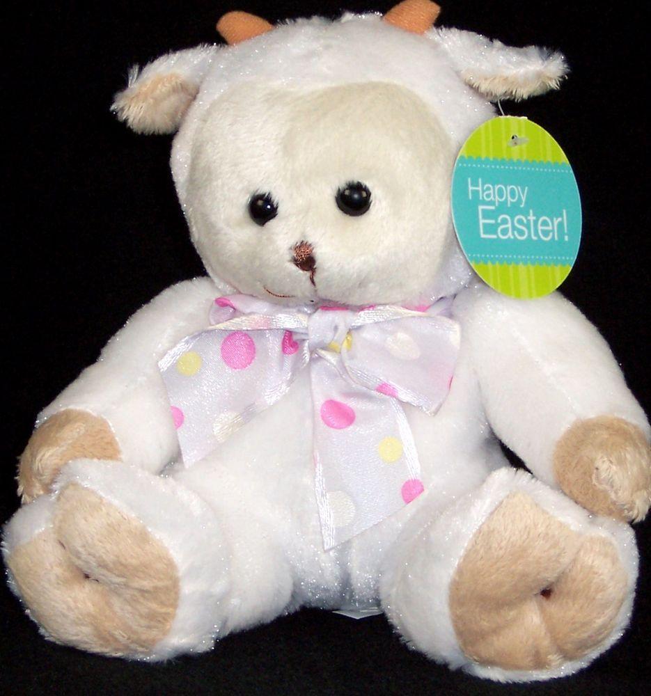 Easter White Plush Lamb Baby Stuffed Animal Basket Toy Lovey Nursery Walmart Walmart White Stuffed Animal Baby Stuffed Animals Plush Lamb