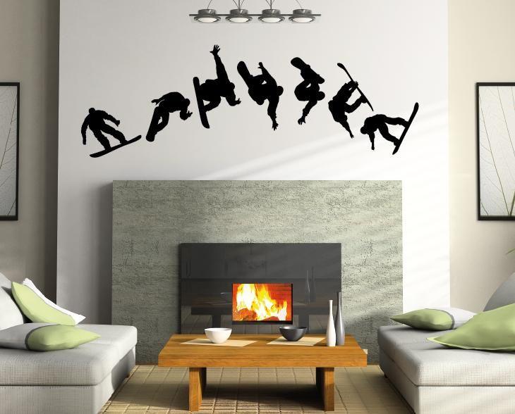 Snowboarder Wandtattoo Aufkleber Home Snowboard Wall Tattoo