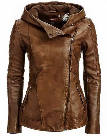 S-Fly Womens Stylish Oblique Zipper Pu Faux-Leather Moto Jacket Coats