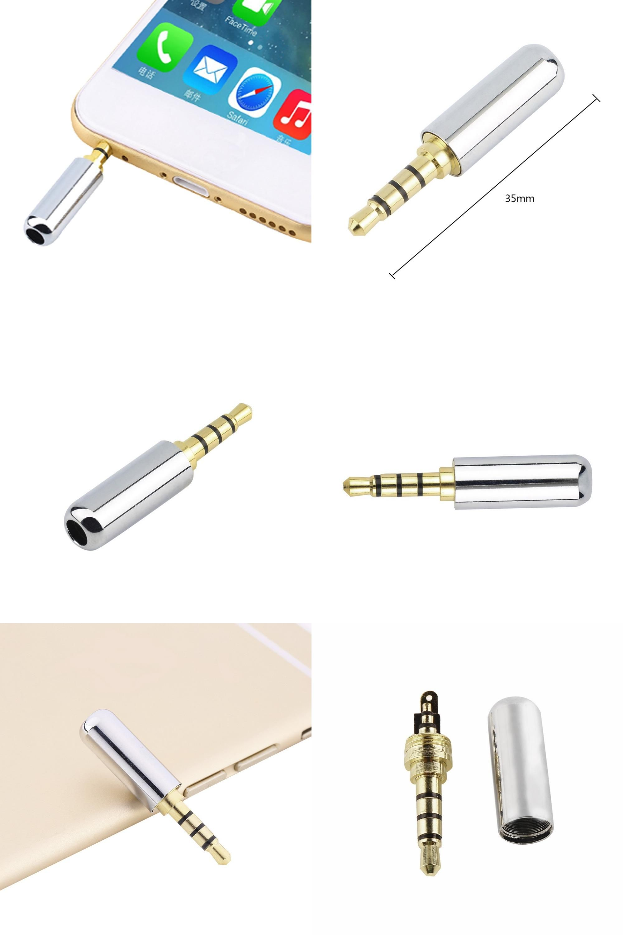 Visit To Buy 1pc Sliver 4 Pole 3 5mm Male Repair Headphone Jack Plug Metal Audio Soldering Cover Free Shipping New Arrival Adv Stuff To Buy Headphone Plugs
