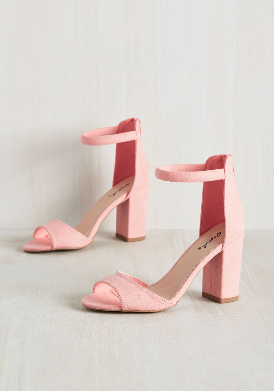 c27b68cbc42c Creme de la Feminine Block Heel. Could these pastel pink heels be the most  superior pair in your footwear collection   pink  prom  wedding  bridesmaid    ...