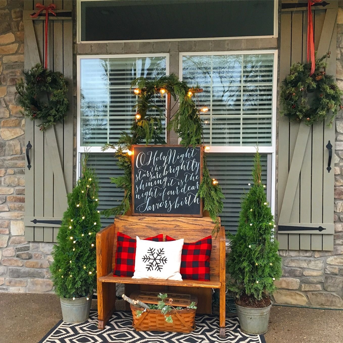 christmas front porch - How To Decorate Front Porch For Christmas