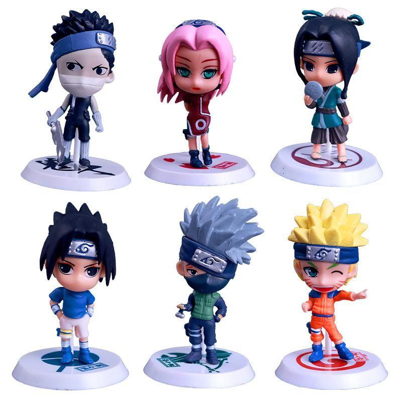 6pcs Lot Naruto Figure Set Uzumaki Naruto Uchiha Sasuke New Pvc