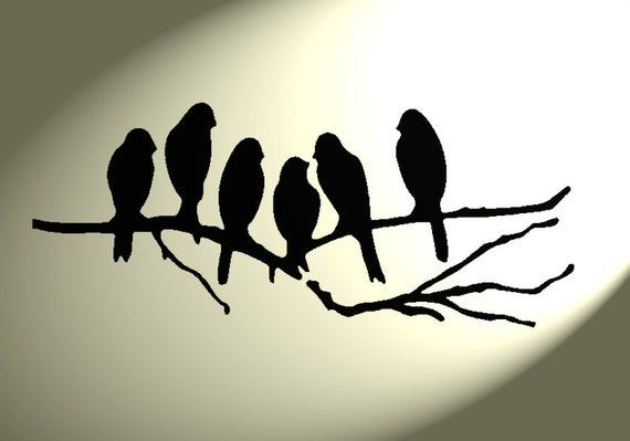 Shabby Chic Stencil Group Birds Rustic Tree Vintage Style