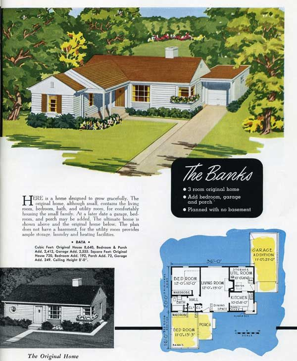 1949 National Homes: The Banks | VinTagE HOUSE PlanS~1940s ...