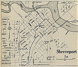 Map of Shreveport in 1920 Shreveport LA Pinterest Caddo parish