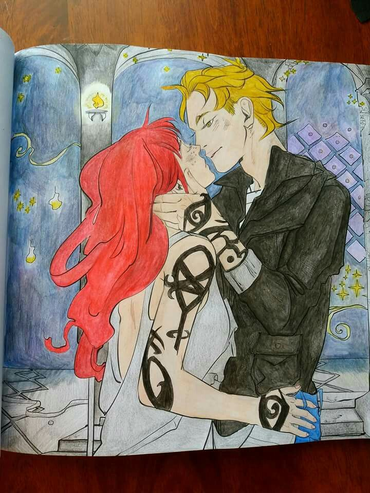 The Mortal Instruments Coloring Book Colored by me! | TMI