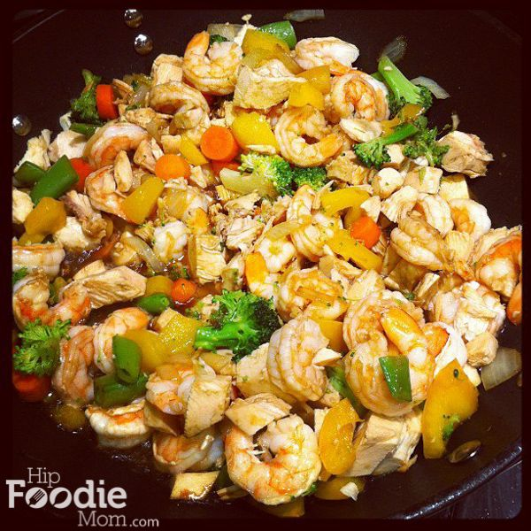 Delicious Shrimp and Chicken Stir Fry Recipe • Hip Foodie Mom