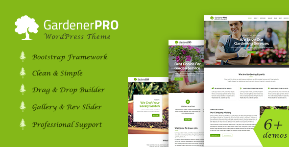 GardenerPro - Gardening, Lawn Care and Landscaping WordPress Theme ...