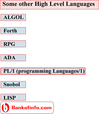 General Information about High Level Programming Languages