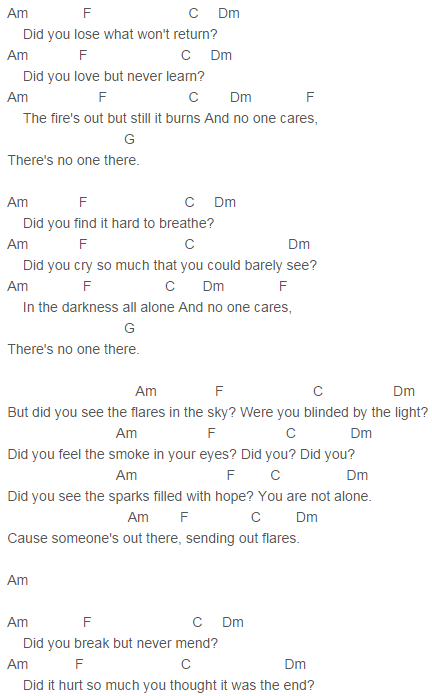 The Script Flares Chords Capo 3 The Script Songs To Sing Piano Songs