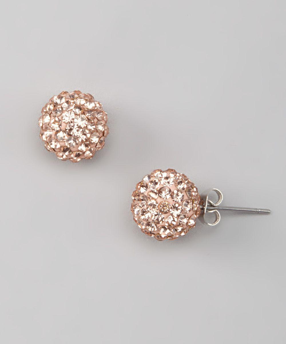 baubles gold rhinestone disco ball stud earrings mom. Black Bedroom Furniture Sets. Home Design Ideas