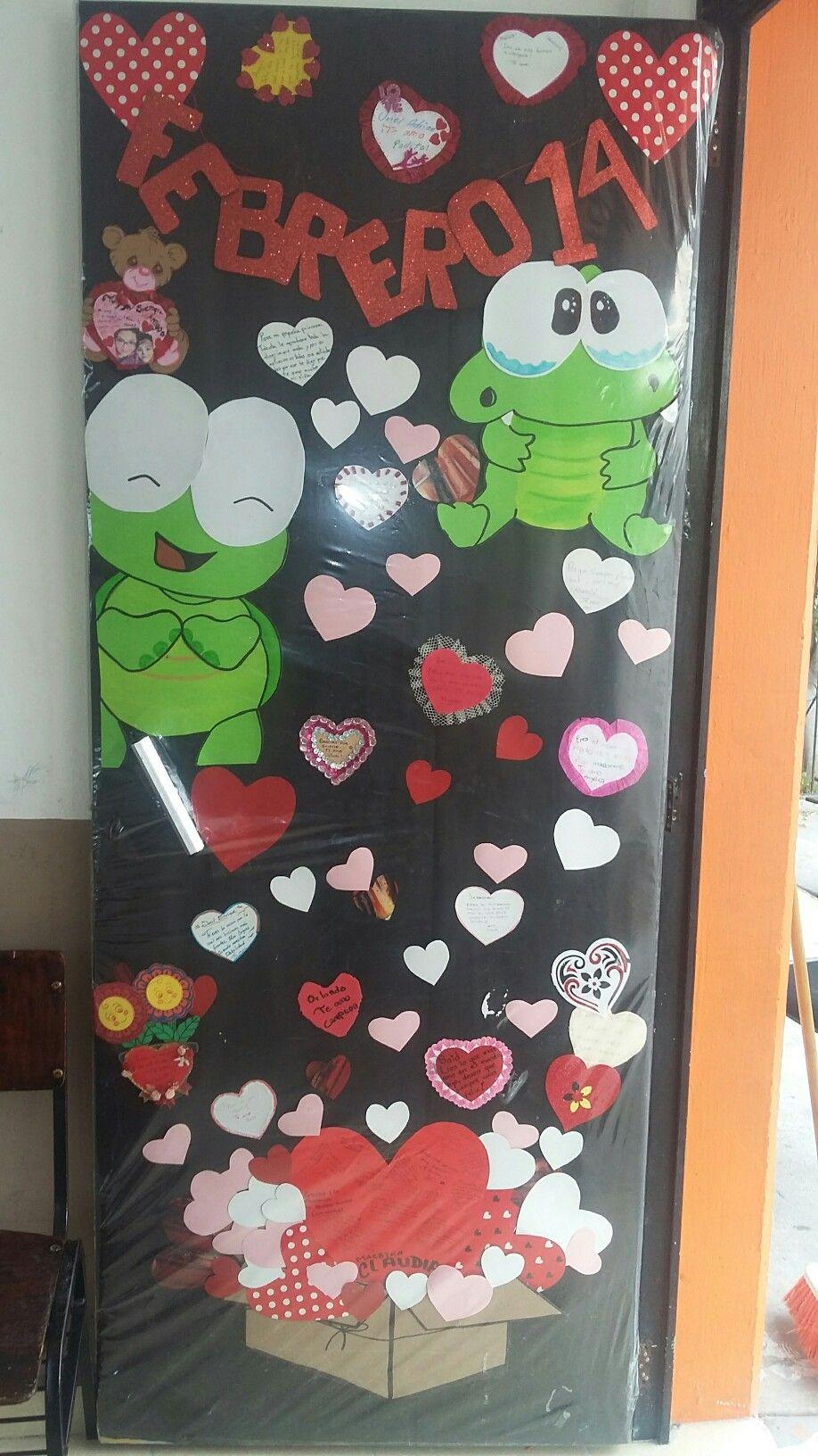 Mes de febrero san valent n pinterest febrero for Puertas decoradas del 14 de febrero