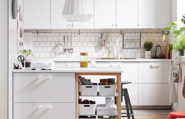 Ways To Open Small Kitchens Space Saving Ideas From Ikea Ikea Small Kitchen Kitchen Design Small Kitchen Accessories Design