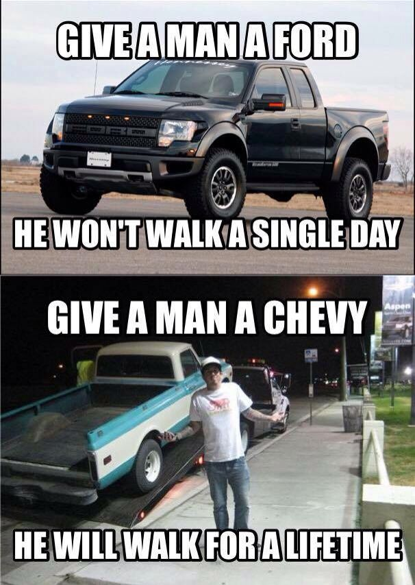 Right Ford Jokes Chevy Memes Ford Humor