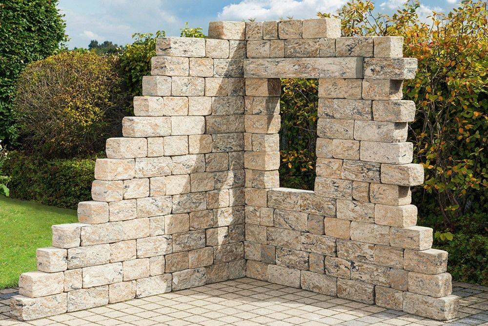 Objekte Gestaltungselemente Fur Den Garten Diephaus Steinmauer Garten Garten Ruinen