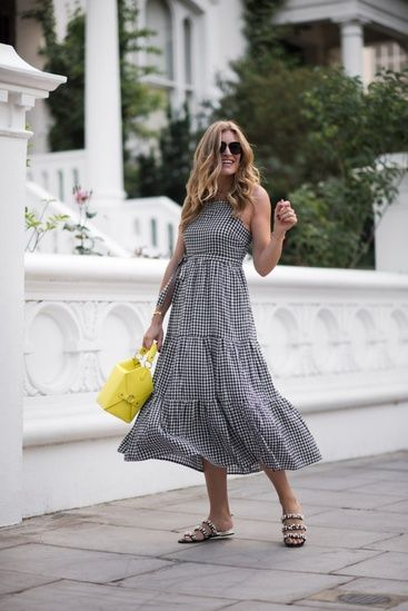 eab2355dca43 An affordable gingham dress with a pop of color in Notting Hill. #ShopStyle  #shopthelook #SummerStyle #MyShopStyle #WeekendLook #DateNight  #GirlsNightOut # ...