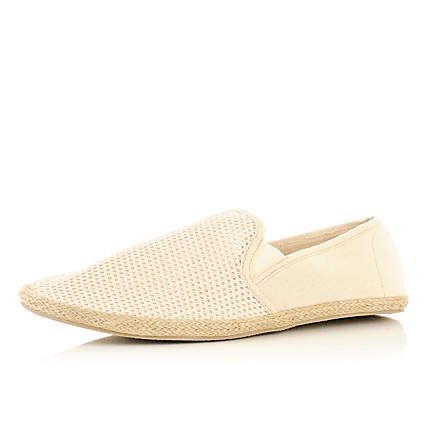 River Island Mens slip on espadrilles