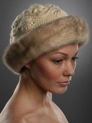 шапочки с мехом вяжем шапочки шляпки капюшоны шапочка шарф