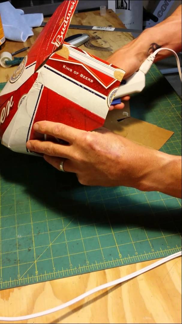 8357df728e0 How to make a beer box cowboy hat. So funny!!