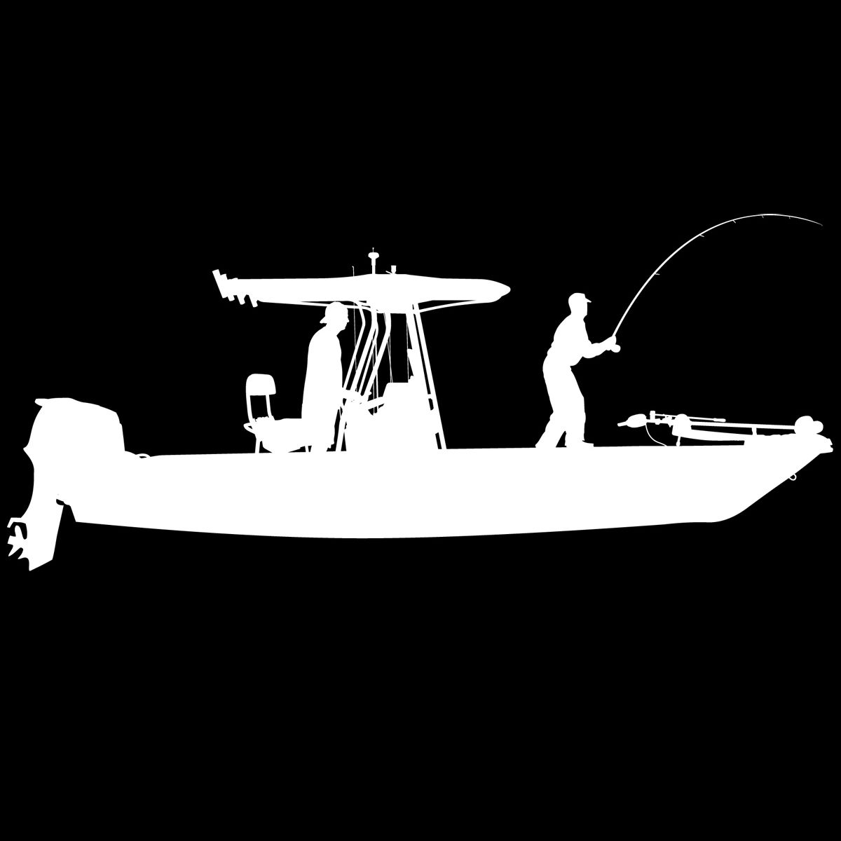 Skiff Life TTop Flats Console Fishing BoatCar Decal Stickers - Boat stickers and decals