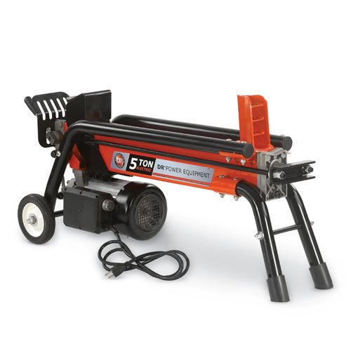 Dr 5 Ton Electric Wood Splitter Split Wood Indoors Or Out With Clean Electric Power Easy To Use Splitter Features A Log Splitter Wood Splitter Electric Logs