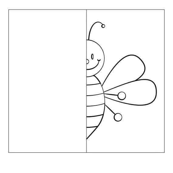 Kelebek Simetri Arilar Boyama Sayfalari Ari Cizimi