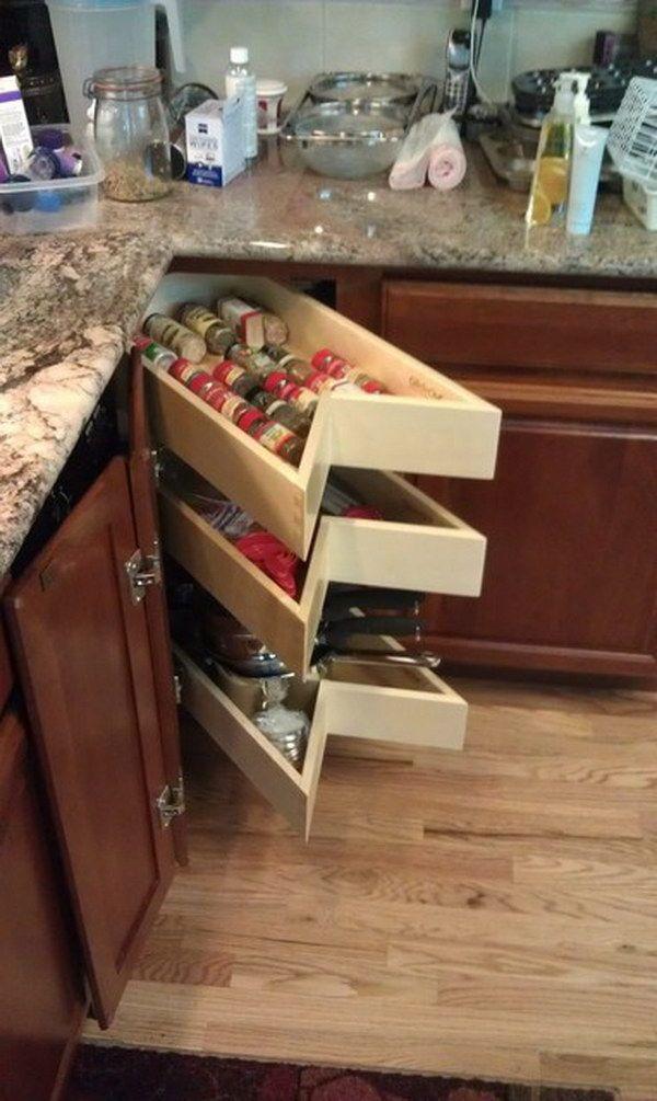 Corner Kitchen Cabinet Storage Ideas kitchen corner cabinet storage ideas | storage ideas, drawers and