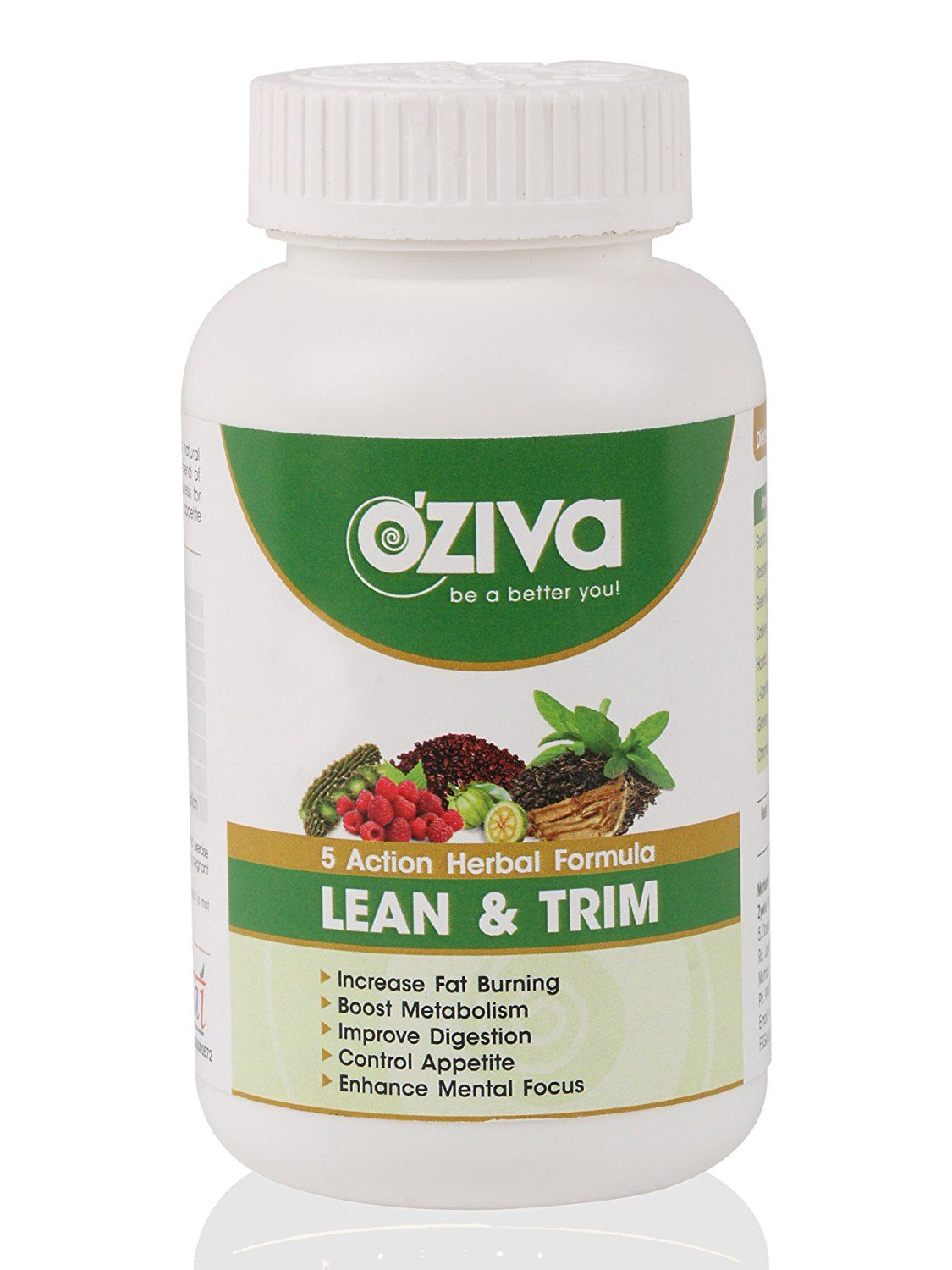 Oziva Lean Trim Natural Fat Burner With Power Of 5 Herbs
