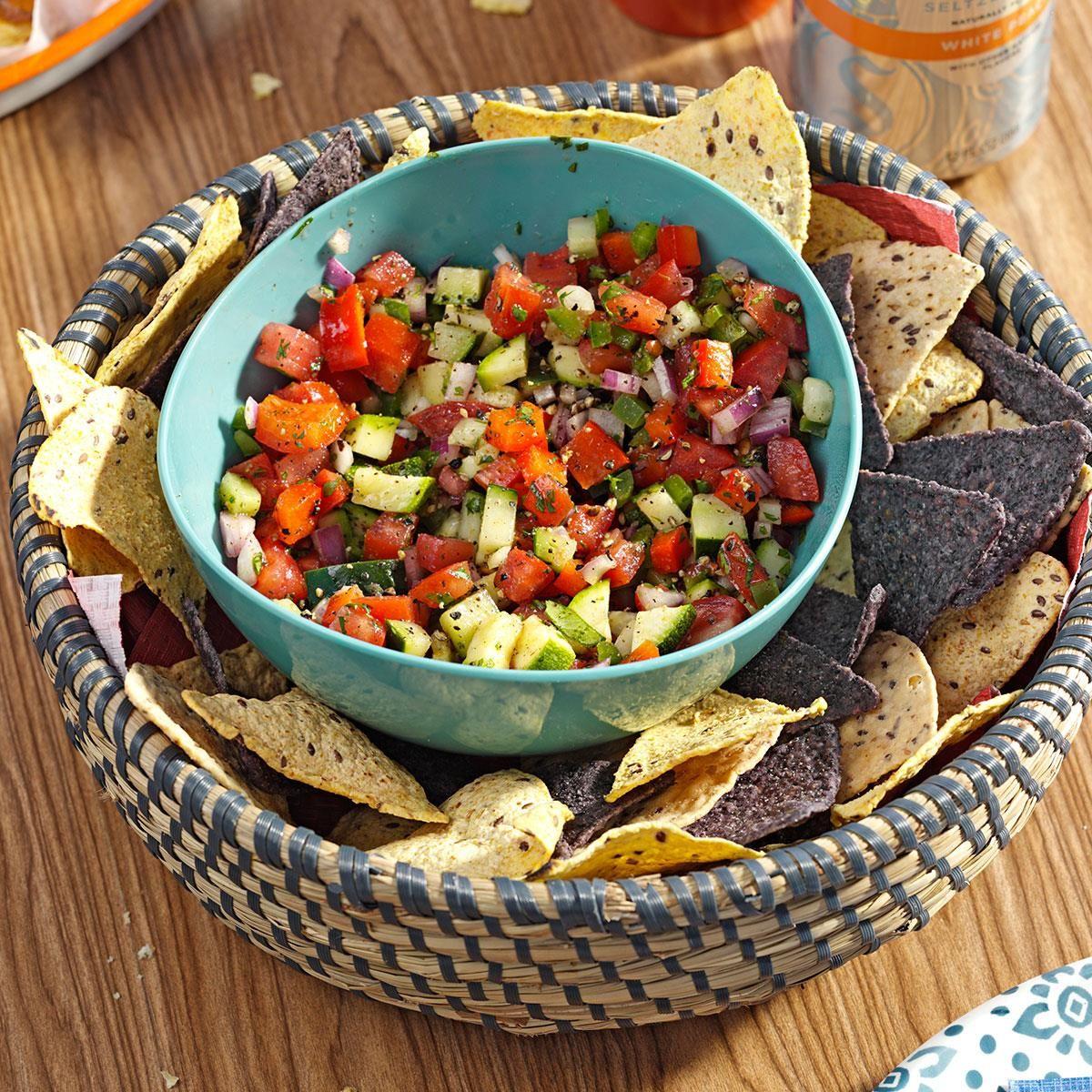 Garden Veg Salsa Recipe Mexican food recipes