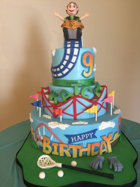 Roller Coaster Cake Roller Coaster Cake Roller Coaster Party Cake