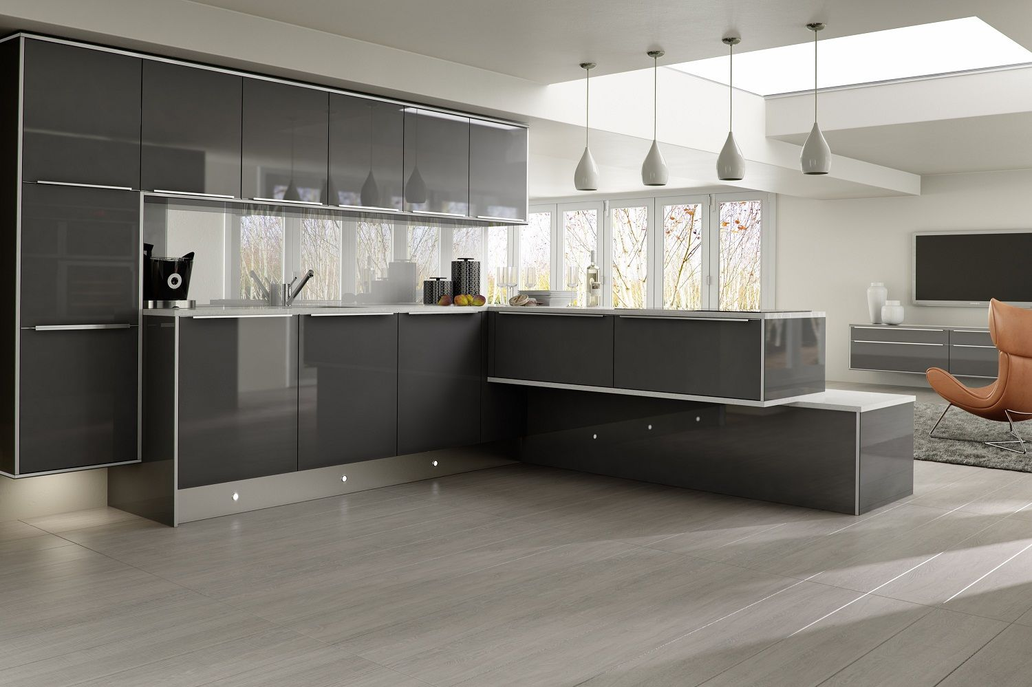 Grey kitchen modern kitchen london by lwk kitchens london - Get Stylish Range Of Fitted Kitchen Service In London At Sky Kitchens And Bedroom We Design Supply Fit All Sorts Of Kitchen Fittings In Middlesex