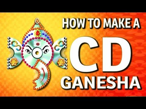 How to make a Wall Hanging CD Ganesha – Waste CD Craft Ideas – (DIY ...