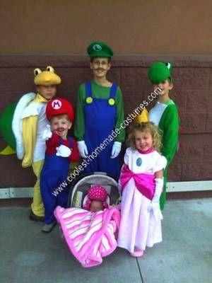 Coolest Homemade Mario Children\u0027s Group Halloween Costume - cool group halloween costume ideas