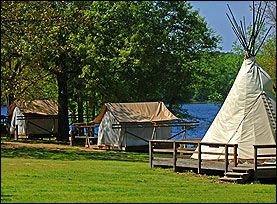 a family enjoys the rent a tepee complete with camping. Black Bedroom Furniture Sets. Home Design Ideas