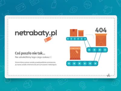 Netrabaty website - 404 page