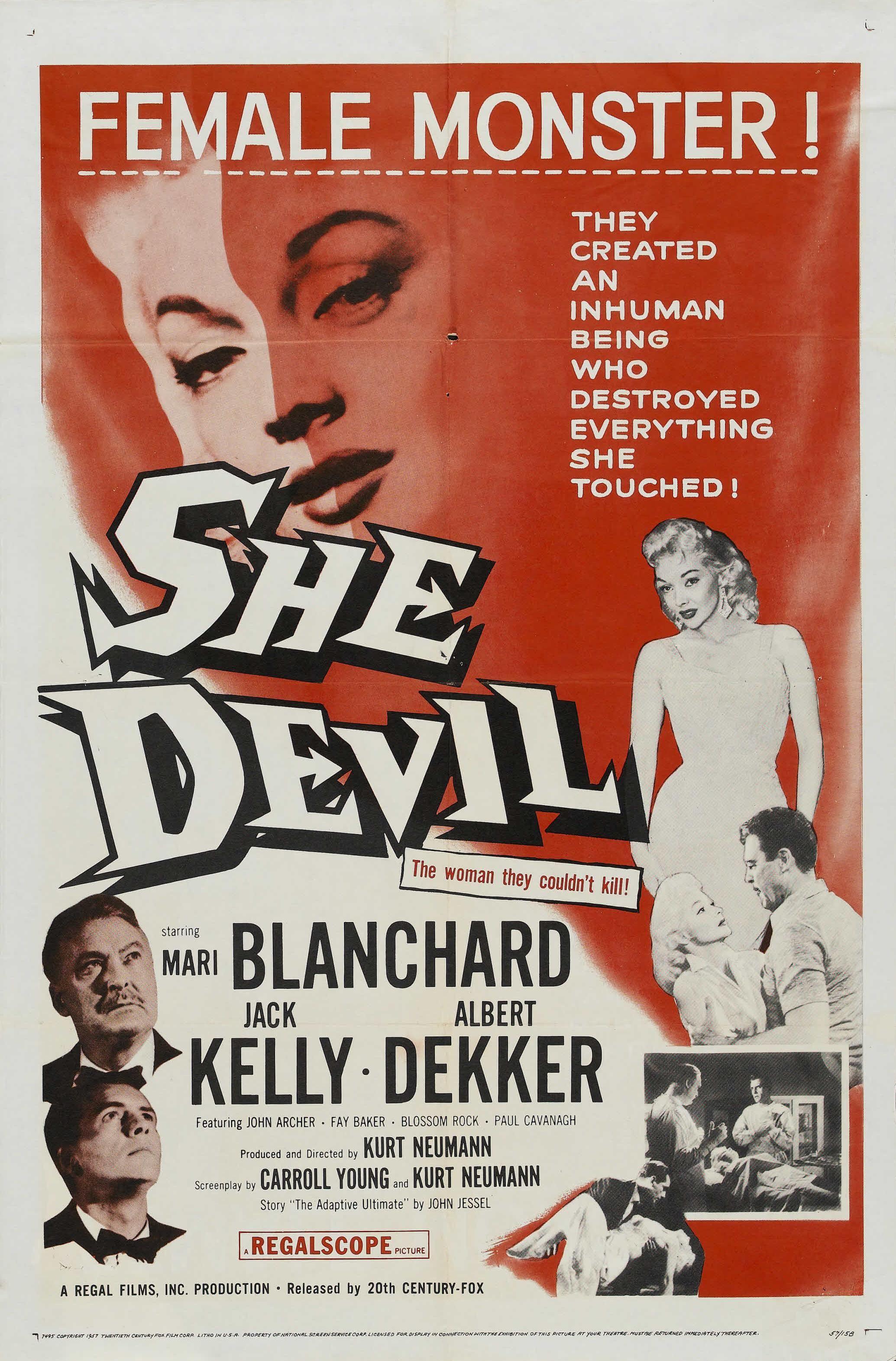 She-Devil - Part of the goofy 50's monster movie craze.