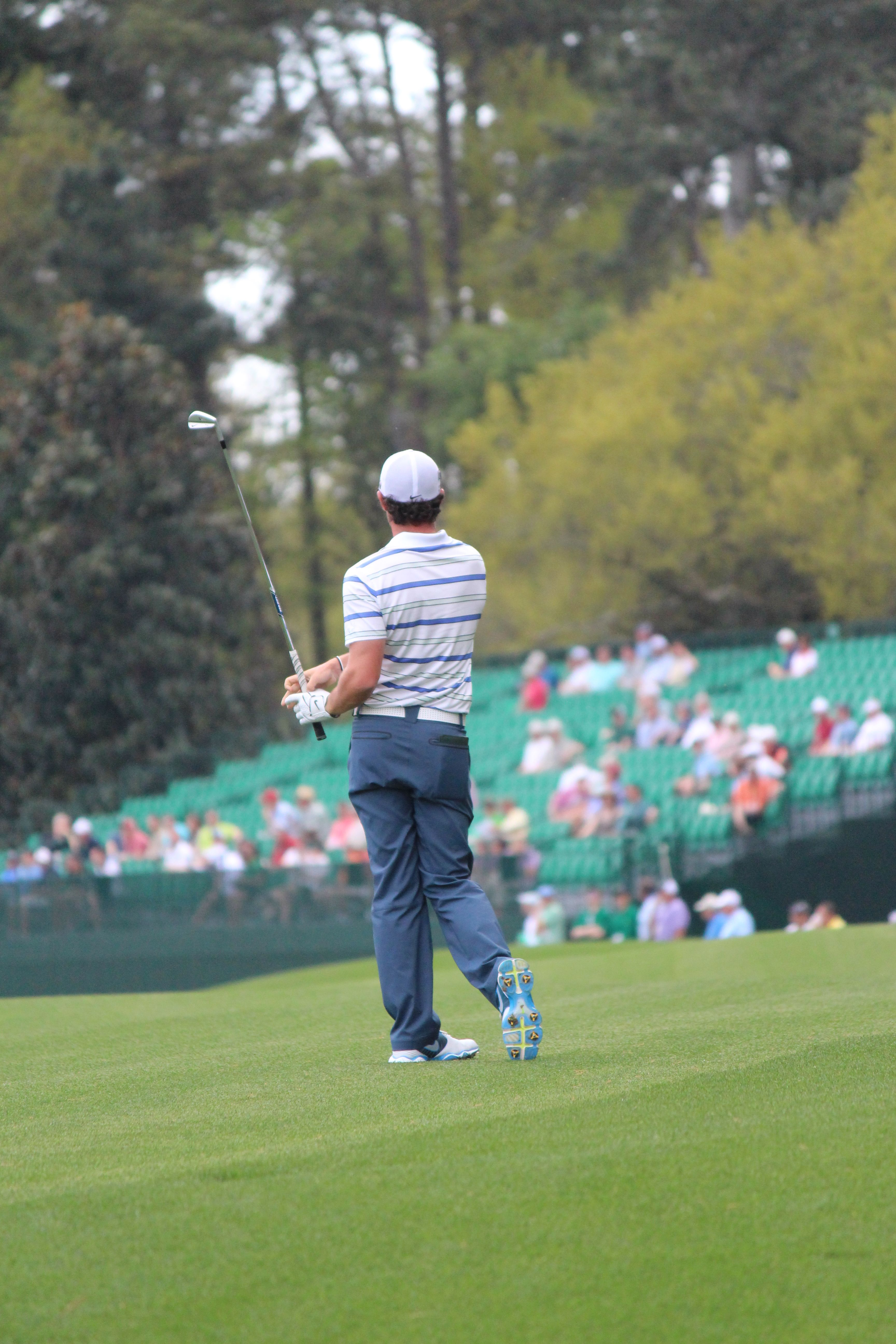 Rory McIlroy at Augusta National for the 2013 Masters. MRN