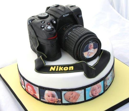 Astounding Nikon Camera Cake With Images Camera Cakes Cool Birthday Cakes Personalised Birthday Cards Sponlily Jamesorg