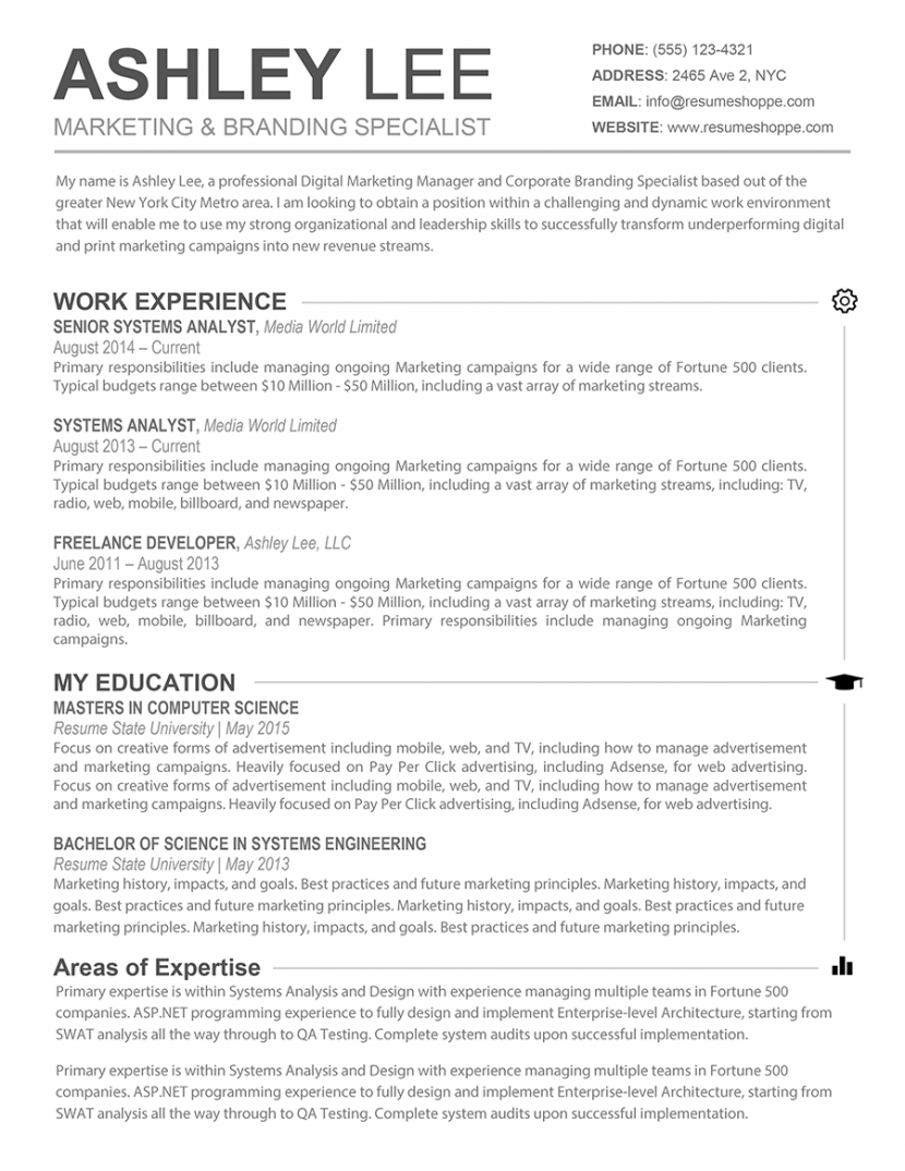 Online Advertising Specialist Sample Resume Face Masks Templates
