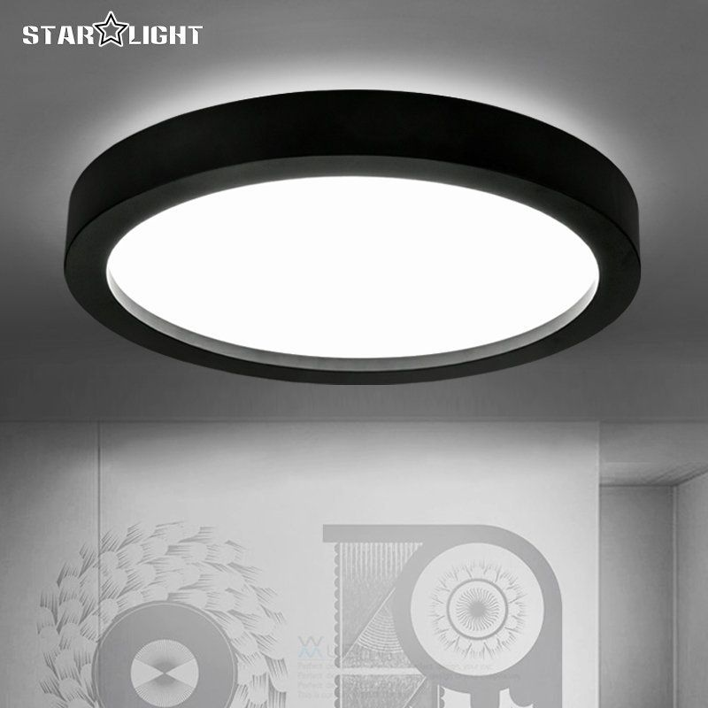 Black And White Round Lamp Modern Led Light Remote Control Dimmer Ceiling Lighting Home Fixtures Ceiling Lights Lighting Led