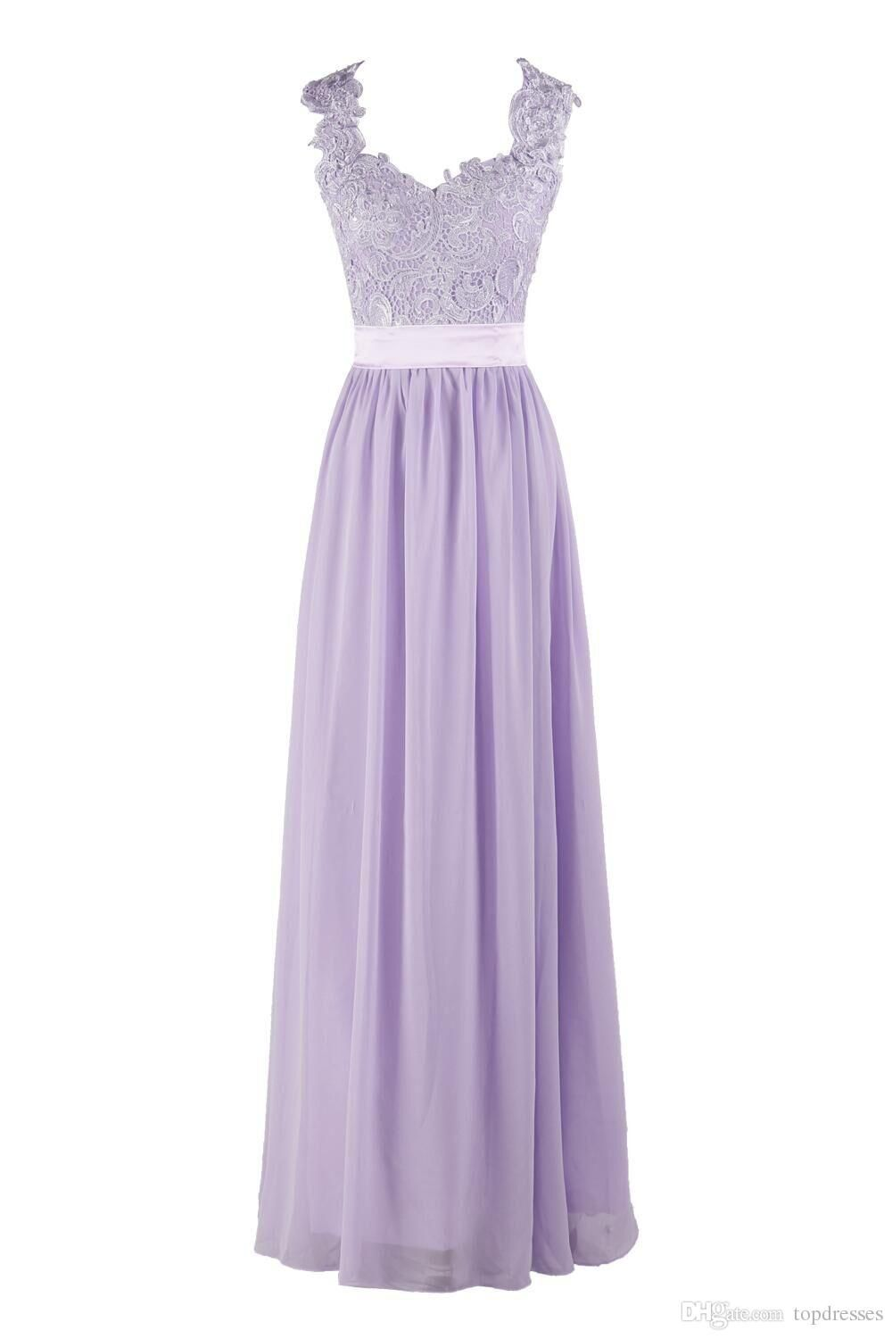 a0f5420f8535 Hot Selling Purple Lilac Lavender Bridesmaid Dresses Lace Chiffon Maid of Honor  Beach Wedding Party Dresses Plus SIZE Evening Dresses