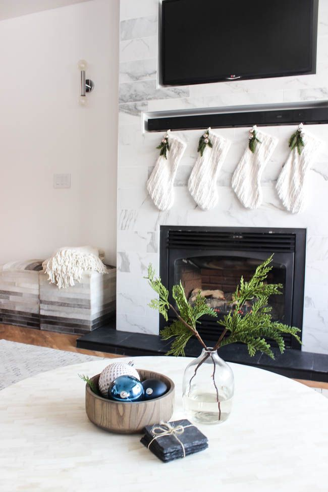Christmas home tour in our new living room pinterest