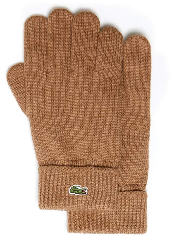 85ae06186b6ab9 Lacoste Men s Ribbed Wool Gloves