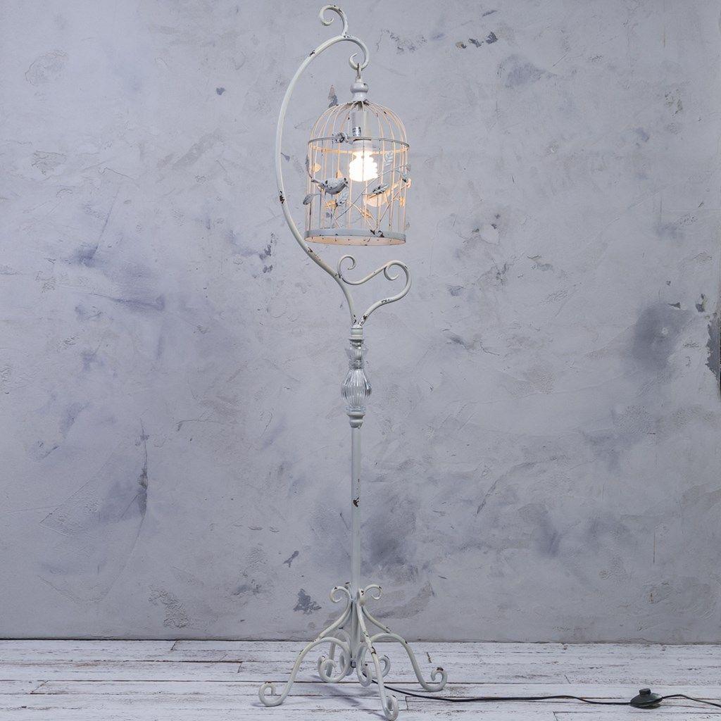 Metal Bird Cage Floor Lamp Caged lamp, Metal birds